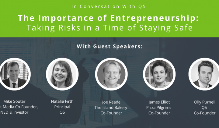 The Importance of Entrepreneurship: Taking Risks in a Time of Staying Safe